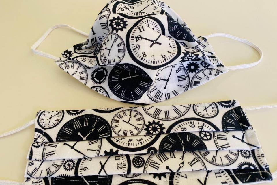 Gesichts- Behelfsmaske Baumwolle Zweilagig Uhren
